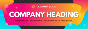 Colorful Company Email Header E-mail-overskrift template
