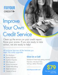 Colorful Credit Repair Business Service Flyer Pamflet (VSA Brief) template