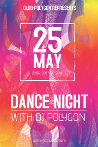 colorful dance night flyer template