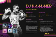Colorful DJ Party Press Kit Poster Template Плакат