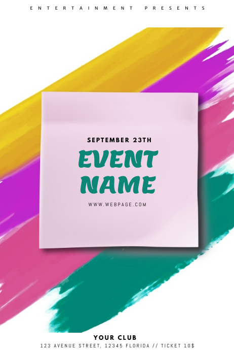 Colorful Event Flyer Template