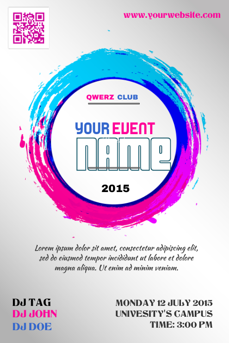 colorful event promotion poster template postermywall