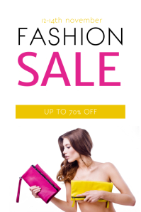 Colorful Fashion Sale Flyer Template