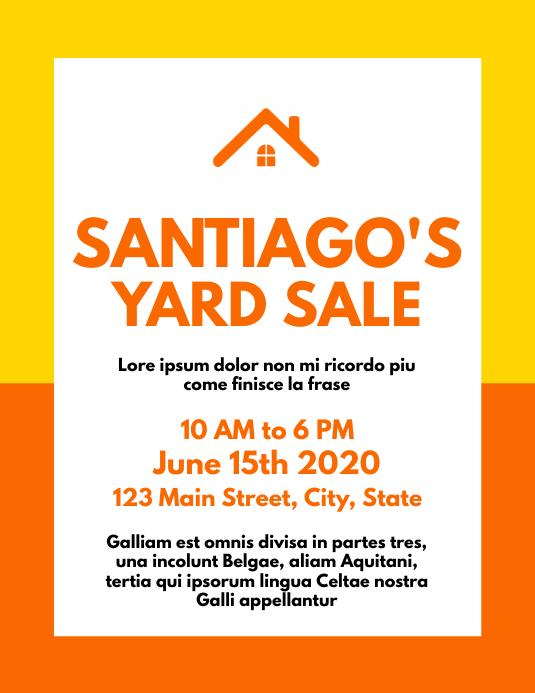 Colorful Garage sales flyer template design Volante (Carta US)