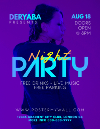 Colorful Gradient Party Flyer Template