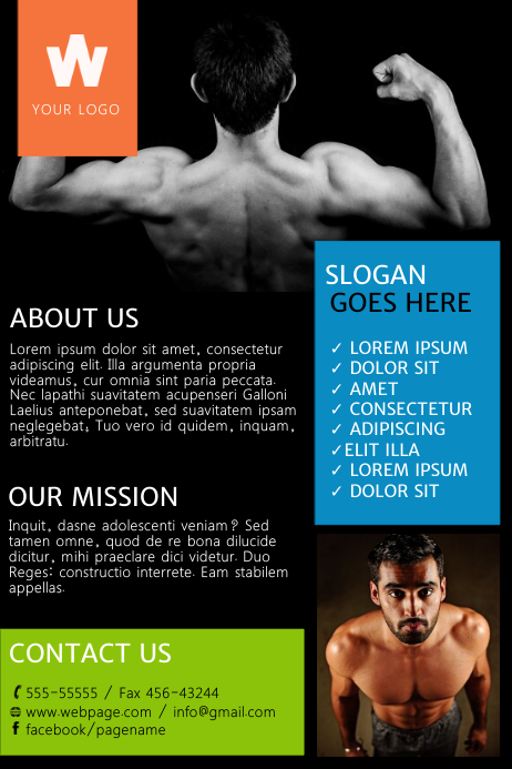 Colorful Gym Flyer Template