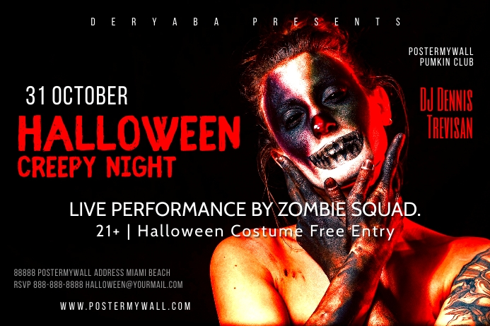 Colorful Halloween Party Flyer Template Label