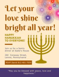 Colorful Hanukkah Event Invitation Template