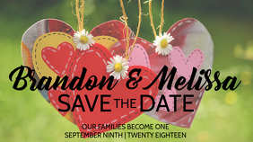 Colorful Hearts Wedding Save the Date