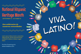 Colorful Hispanic Heritage Month Event Poster template