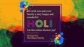 Colorful Holi Wish Video Design