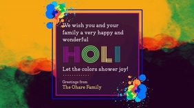 Colorful Holi Wish Video Design