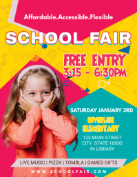 Colorful Kindergarten Fun Fair Flyer