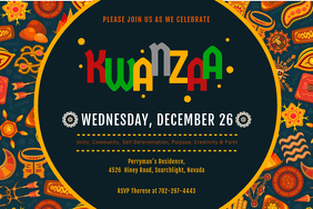 Colorful Kwanzaa Event Invitation Poster Template