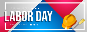 Colorful Labor Day Sale Facebook Cover Photo Facebook-omslagfoto template
