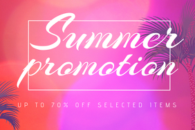 Colorful Landscape Summer Promotion Sale Flyer Template
