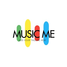 Colorful Music Logo Design Template