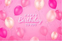 Colorful neon birthday background 海报 template