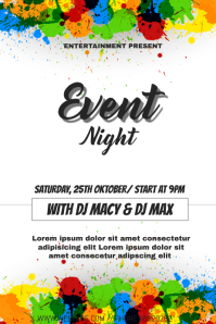 Colorful night event flyer template