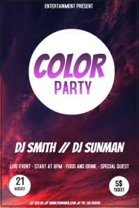 Colorful party fyer template