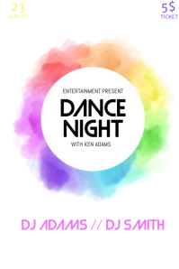 Colorful party night flyer template