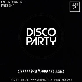 Colorful party video flyer template
