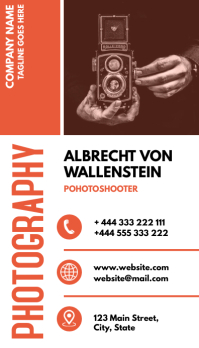colorful photography business card Visitenkarte template