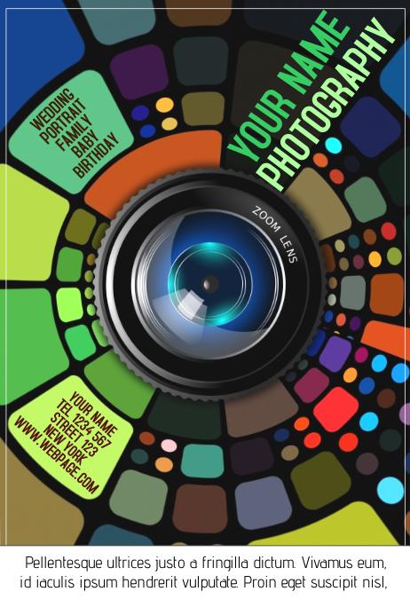 colorful photography portrait template
