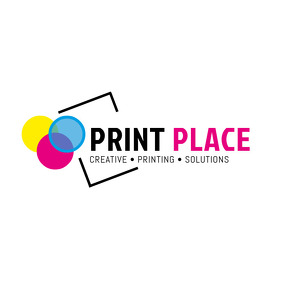 Colorful Print Palace Logo template