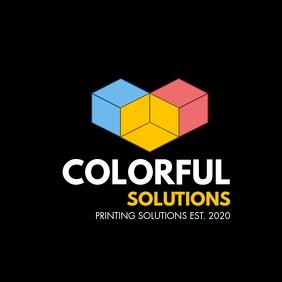 colorful printing logo template design icon