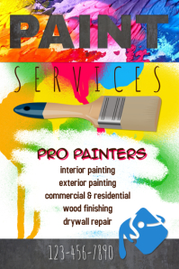 colorful professional painting service flyer