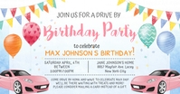 Colorful Quarantine Birthday Invitation Faceb Imagem partilhada do Facebook template