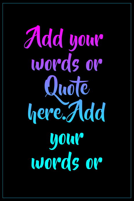 Colorful quote template