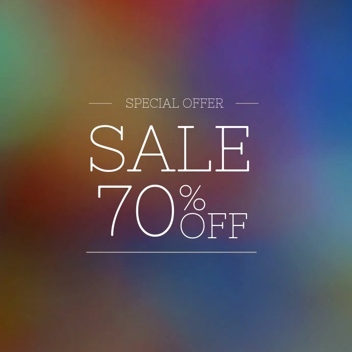 Colorful Sale Instagram Video Post Template