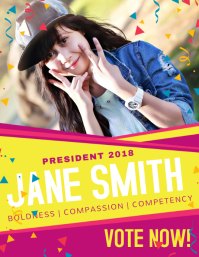 Colorful School Student Council Election Poster Template Flyer (US Letter)