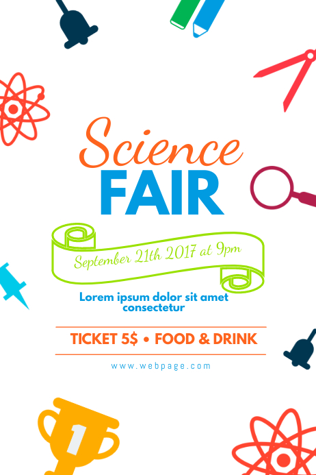 Colorful Science Fair Flyer Template Postermywall