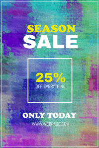 Colorful season sale flyer template