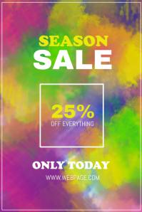 Colorful season sale flyer template