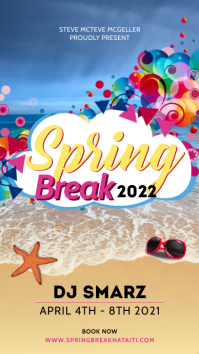 Colorful spring break DJ Instagram story Instagram-Story template