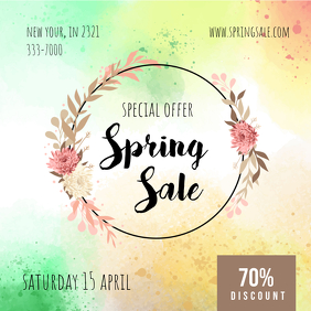 Colorful Spring Sale Advert