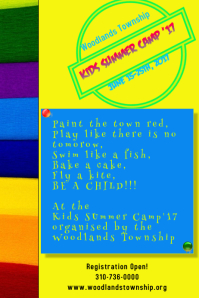 Colorful Summer Camp Poster/Flyer