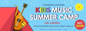 Colorful Summer Camp Banner Design