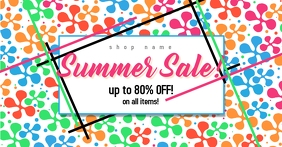 Colorful Summer Sale Facebook Post