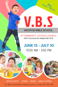 Colorful Vacation Bible School Template