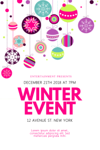 Colorful Winter Event Flyer Template