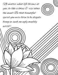 coloring book Flyer (US Letter) template