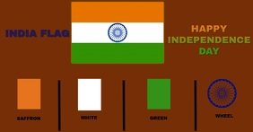 COLOUR FOR INDIA FLAG INDEPENDENCE DAY TEMPLA Facebook-Anzeige template