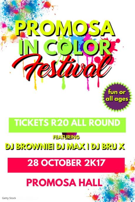 colour run template postermywall