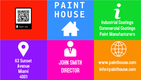 Colourful Business card
