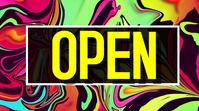 Colourful Open fashion background Digital Display (16:9) template